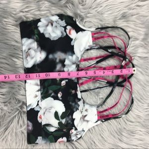 Victoria's Secret Intimates & Sleepwear - Victoria Secret sports strappy bra floral size s